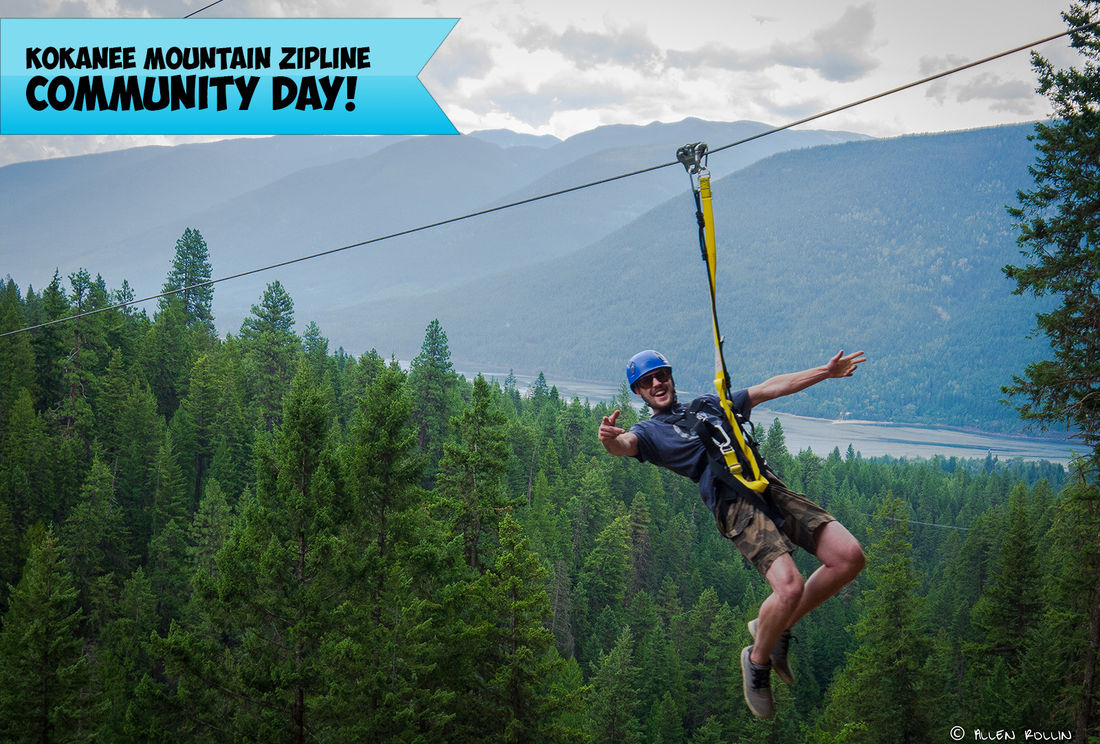 "The fourth annual Community Day at Kokanee Mountain Zipline takes place May 27. All zipline rides booked using the ""Kerpa"" promo code will be 50% off with 100% of the proceeds going to KERPA."