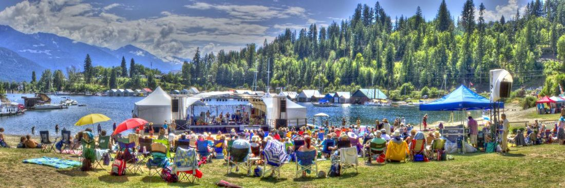 Along with zip lining, visiting a Kootenay music festival, such as the Kaslo Jazz Etc. Festival, is one of most exciting things to do in BC.