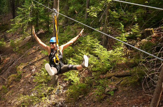 Top BC Attractions: Ziplining in the Kootenays